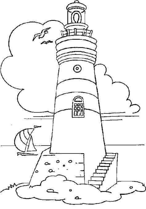 lighthouse printable lighthouse outline coloring pages