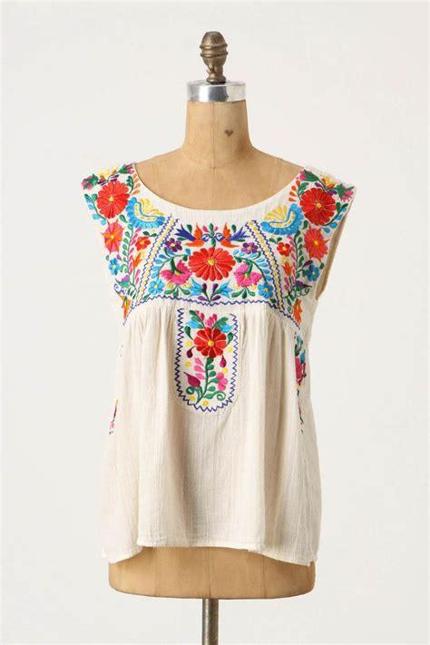 56 best traditional mexican blouses handmade embroidered
