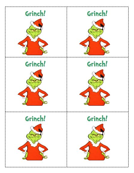 Grinch Card Template by Crafts Diy On Crochet Owls Crochet