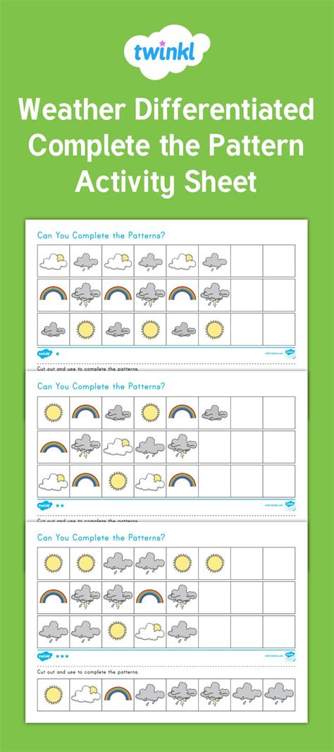 weather pattern activities 597 best maths images on pinterest