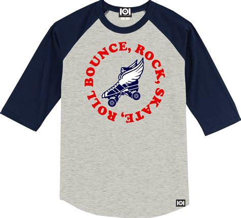 Lp Kaos T Shirt Germany bounce rock skate roll baseball 3 4 raglan 101 apparel