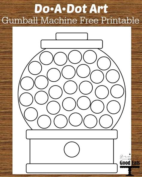 printable dot art worksheets do a dot art gumball machine free printable coloring