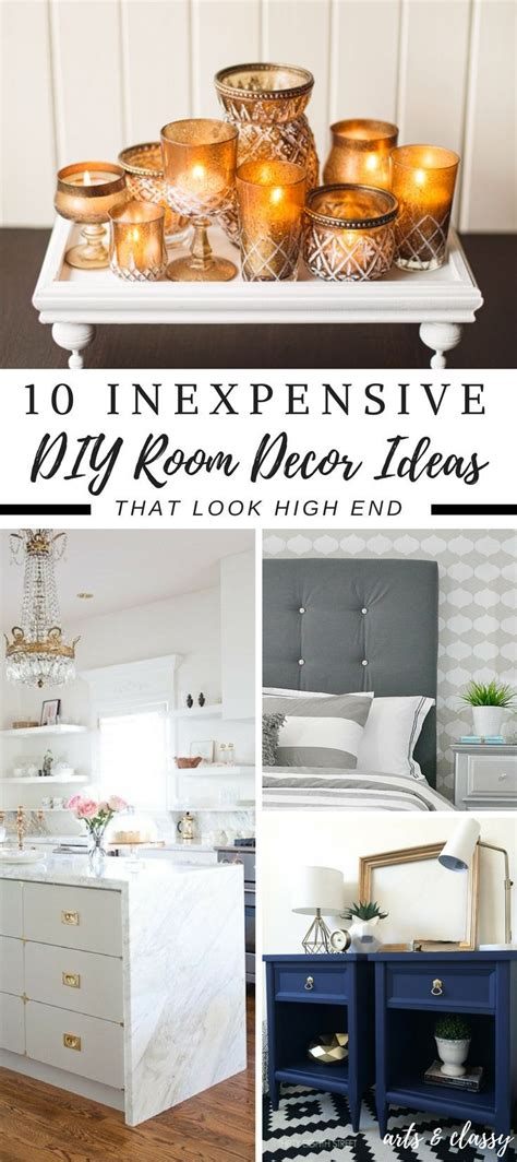 diy inexpensive home decor inexpensive diy room decor ideas you can easily make and