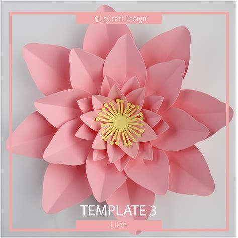 paper flower bouquet pattern paper flower template pdf paper flower diy paper flower