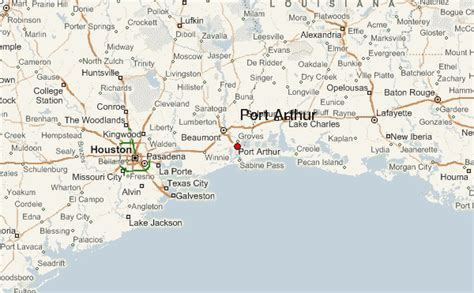 map of port arthur texas port arthur location guide