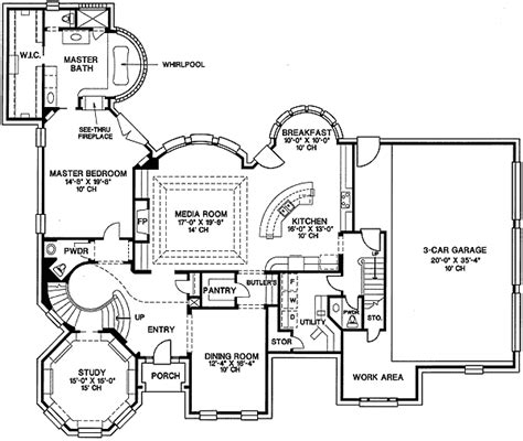 Mansion Floor Plans With Dimensions | 41929db 1st floor master suite butler walk in pantry
