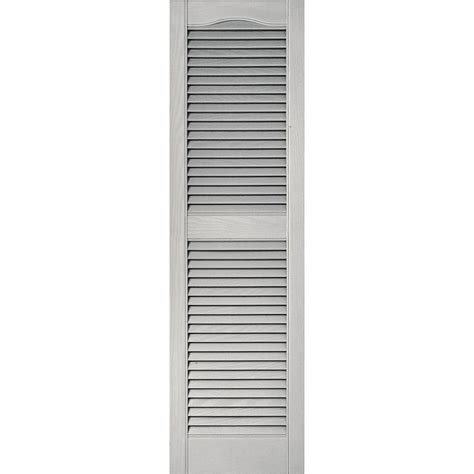 builders edge 15x36 paintable louvered shutters the home