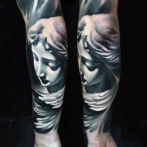 angel tattoo on forearm mens forearms alluring guardian