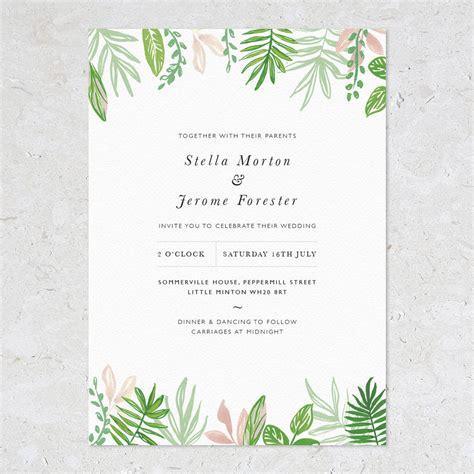wedding invitations greenery greenery wedding invitations by studio