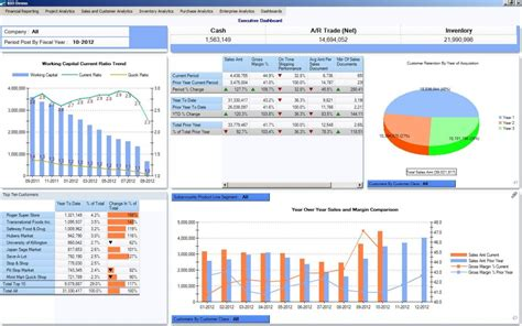 A Dashboard For The Ceo Erp Software Blog Sharepoint Erp Template