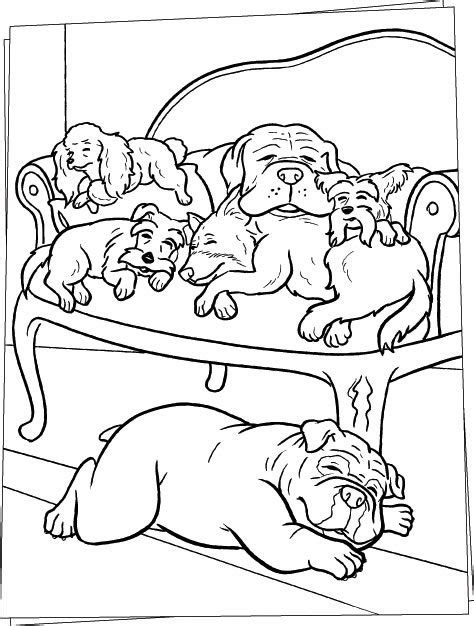 sleeping puppies coloring pages sleeping dogs on sofa coloring page animal pages of