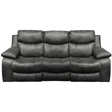 Catnapper Sofa Recliner Catnapper Leather Reclining Sofa In Steel 4311122728302728