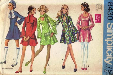 sixties fesyen 1960s trend blushingbtique