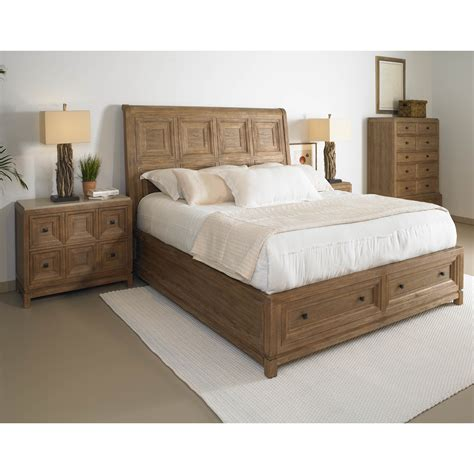 platform sleigh bed a r t furniture 192155 2303 ventura queen platform sleigh