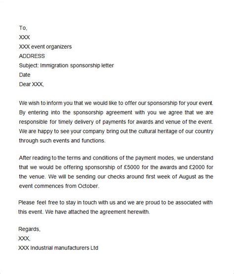 sponsorship letter     word