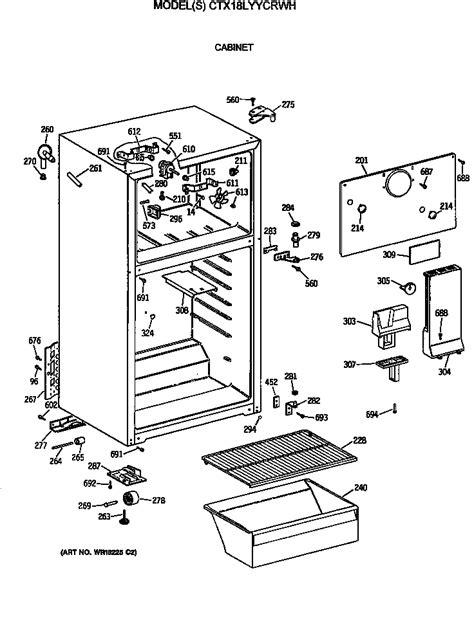 hotpoint refrigerator  series doors parts model