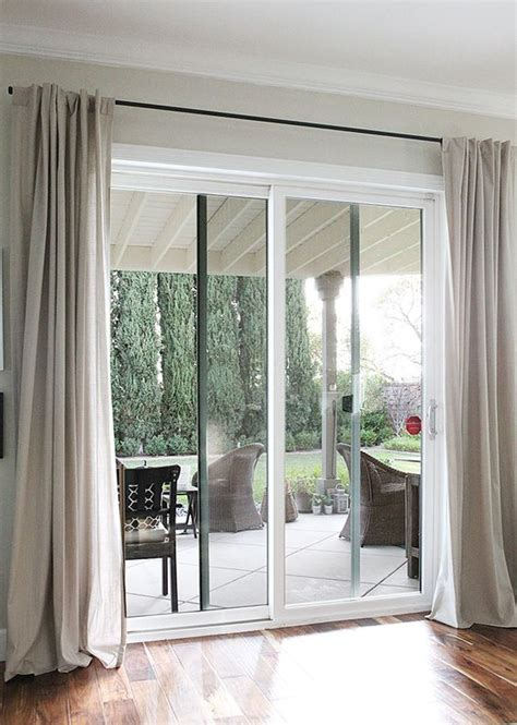 Industrial Curtain Rods And Sliding Doors On Pinterest Window Treatments For Patio Slider Doors
