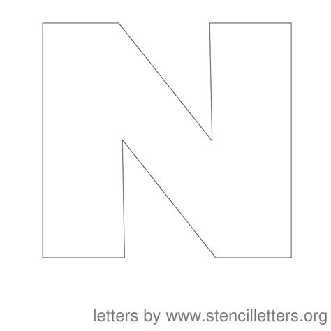 letter n template 5 best images of printable letter n large letter n