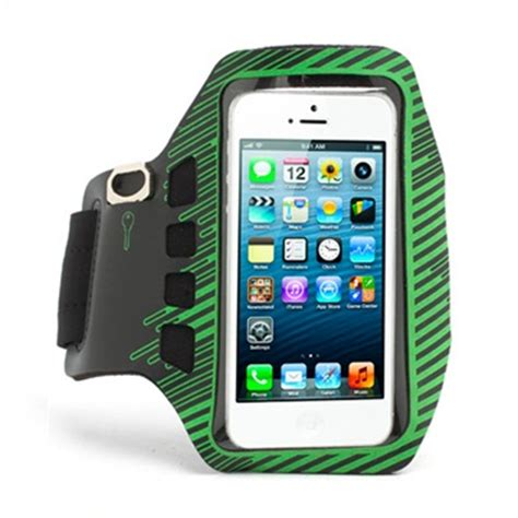 Sports Armband For Iphone 55s5cse Green sports running armband cover for iphone 5 5s se black green goblue dk