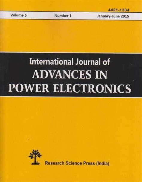 buy international journal  advances  power electronics