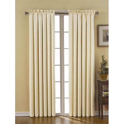 42 inch curtains canova ivory 42 inch x 84 inch blackout window curtain