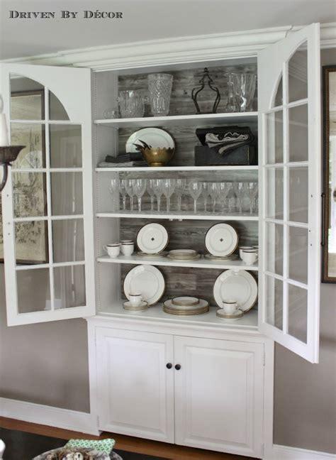 built in china cabinet a simple diy cabinet update with pergo driven by decor