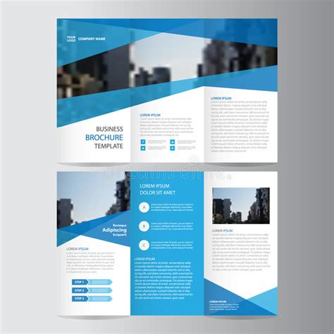 business brochure design templates free blue business trifold leaflet brochure flyer template
