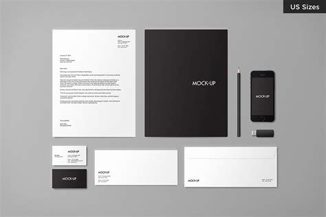 Business Letter Mockup stationery mock up us sizes product mockups creative