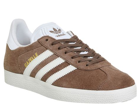adidas gazelle trainers trace brown white trainers shoes ebay