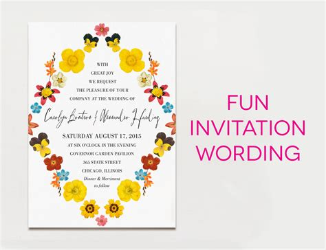 Wedding Invitations Writing by 15 Wedding Invitation Wording Sles From Traditional To