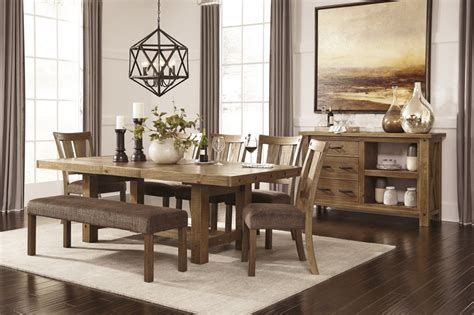 esszimmer lutz tamilo gray brown rect dining room ext table 5 uph