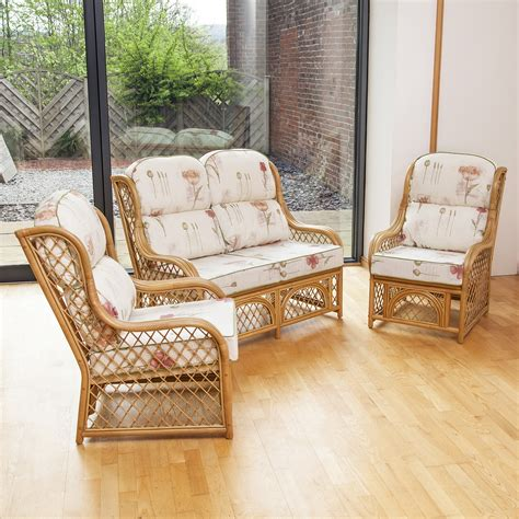 cadiz cane and diamond lattice conservatory furniture set