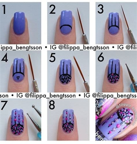 nail art step by step step by step nail designs