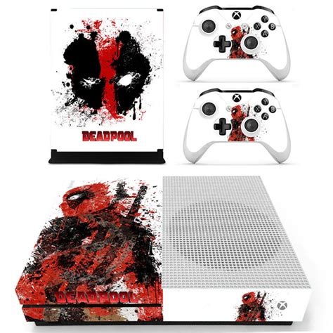 Stickers Xbox One S Personnalisé by Decal Skin Sticker For Xbox One S Slim Deadpool Skins