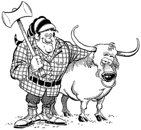 paul bunyan colouring pages