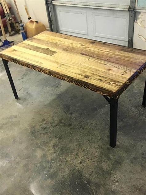 diy pallet table legs diy pallet table with metal legs pallet furniture diy