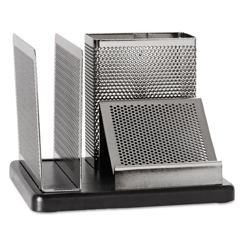 Rolodex Desk Organizer Rolodex Role23552 Distinctions Desk Organizer 5 7 8 X 5 7 8 X 4 1 2 Metal Black