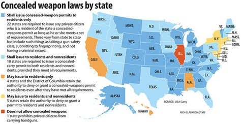 ccw map the argument against open carry laws gun reviews handgun testing rifle shotgun reports