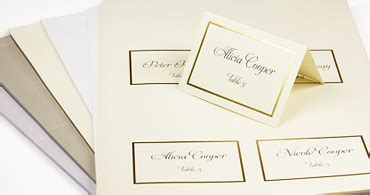 wedding place cards with guest name printing 2 wedding place cards with guest names printed or blank