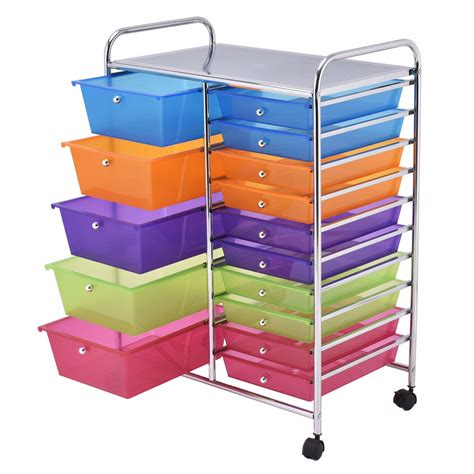 15 drawer organizer cart 15 drawers rolling storage cart organizer household