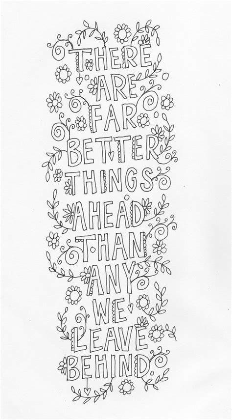 coloring pages for adults with sayings quote coloring page instant line