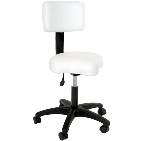 Air Lift Stool by Contoured Air Lift Stool With Backrest