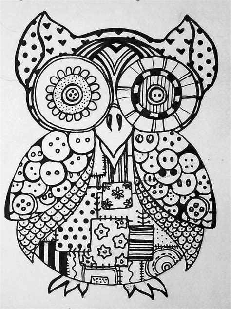 owl mosaic coloring page owl design coloring pages coloring home