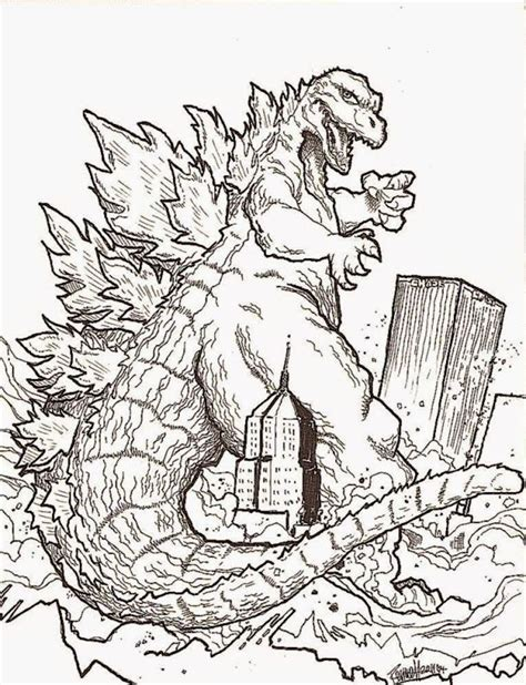 coloring pages of godzilla godzilla coloring page 2014 coloring home