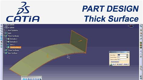 catia v5 cource is here to desigh your plane catia catia v5 part design thick surface youtube