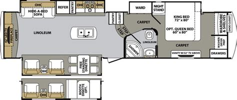 cardinal 5th wheel floor plans 3675rt cardinal 5th wheel floor plans pinterest