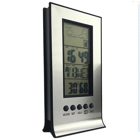 Increase Bedroom Humidity Clock Lcd Digital Day Hygrometer Humidity Thermometer