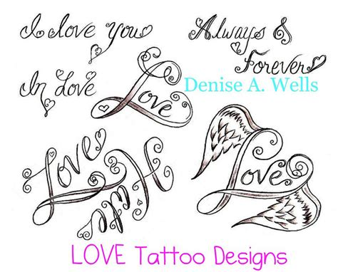 heart word tattoo designs word and design