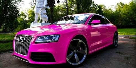 white and pink audi breast cancer awareness month pink supercar special