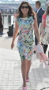 Light Pink Uggs Susanna Reid Sports Zara Dress To Film Good Morning